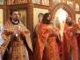 Престольный праздник во временном храме-часовне сщмч. Иоанна Восторгова