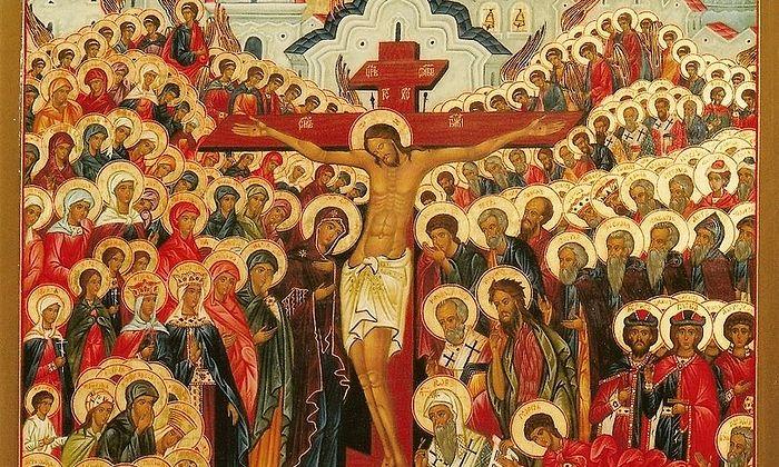 Все святые. Фрагмент иконы
