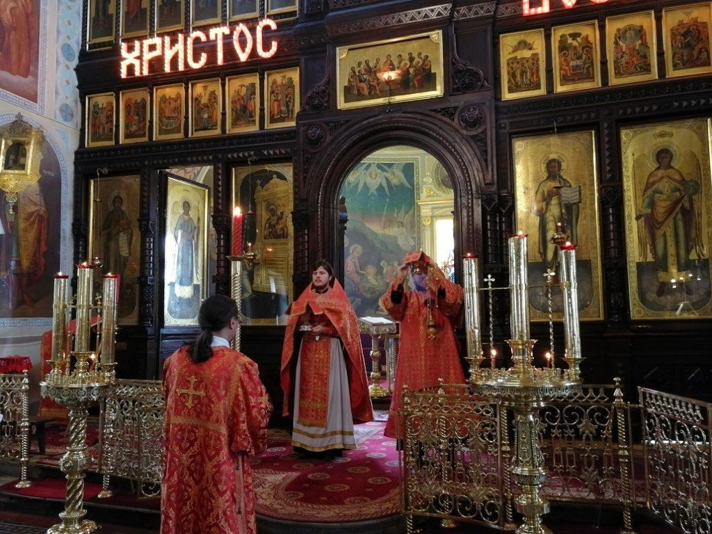 Отдание праздника Пасхи в храме иконы Божией Матери Нечаянная Радость в Марьиной Роще