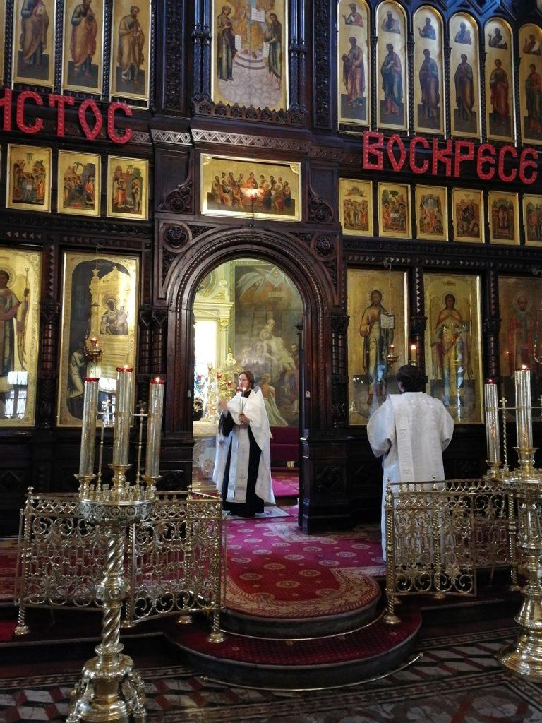 Всенощное бдениев храме иконы Божией Матери «Нечаянная Радость»