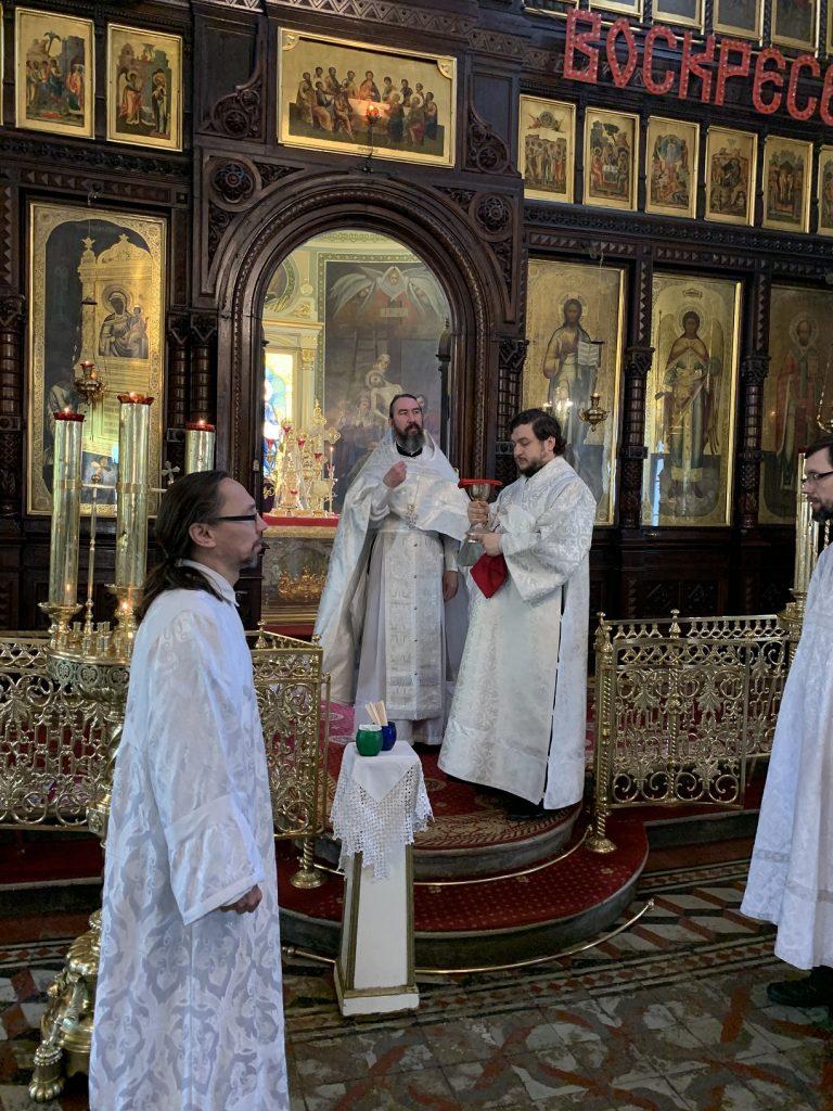 Божественная литургия в праздник Вознесение Господне