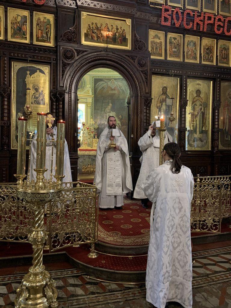 Божественная Литургия в Неделя 7-я по Пасхе, святых отцев I Вселенского Собора