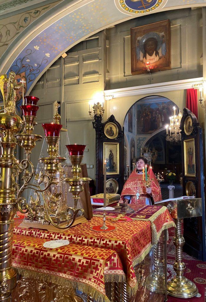 Отдание праздника Пасхи в храме иконы Божией Матери Нечаянная Радость
